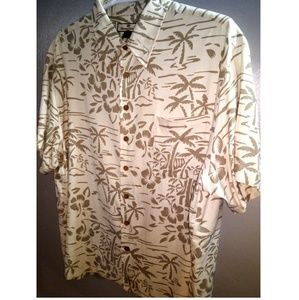 Tommy Bahama Men's XXL 100% SILK button down shirt
